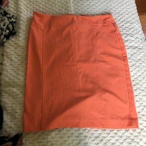 New York & Company coral skirt